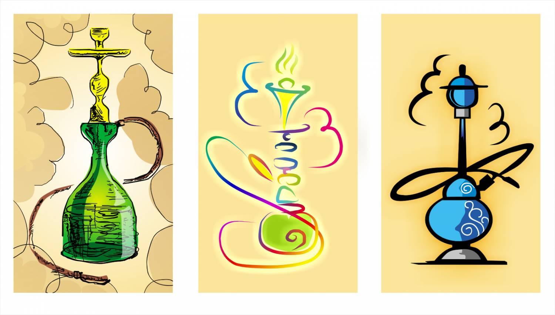 Нарисованные картинки с кальяном